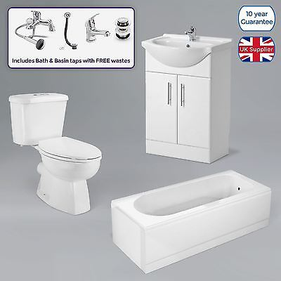 Bath Shower And Bath Mixer, Toilet Cistern And Soft Close Seat, Basin Vanity