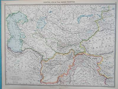 Map of Central Asia & Indian Frontier. 1905. CASPIAN. TURKESTAN AFGHANISTAN