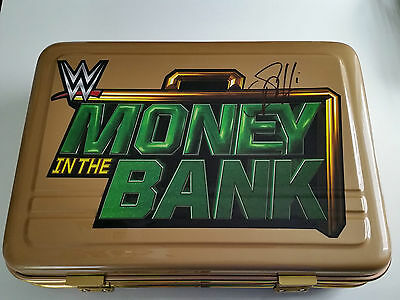 WWE Money in the Bank Koffer signed by Seth Rollins Commemorative Briefcase NEU