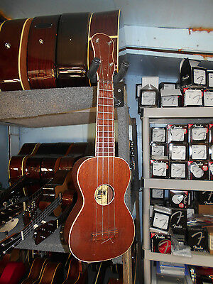 B. L. & F., NY Solid Mahogany Soprano Ukelele Uke C. 1920 Attributed to Regal