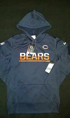 Nike Chicago Bears Official Onfield Apparel Hoody Size Small Nfl