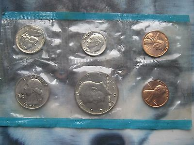 USA 1971 6 coin set collection 1 - 50 Cents Philadelphia Mint sealed sleeve