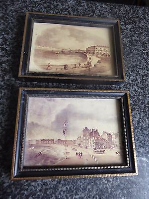 antique lithographs.views of Weymouth framed (two)