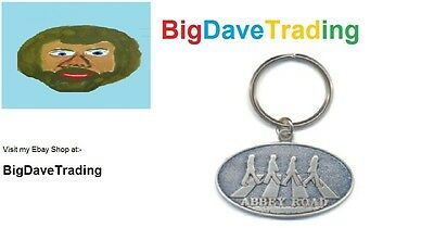 Officially Licensed Beatles/Apple Key Ring/Keychain - Abbey Road - Metal keyring