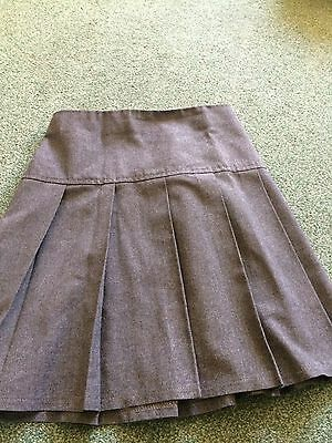 4 Grey Pleated School Skirts M&S Age 9-10 Years
