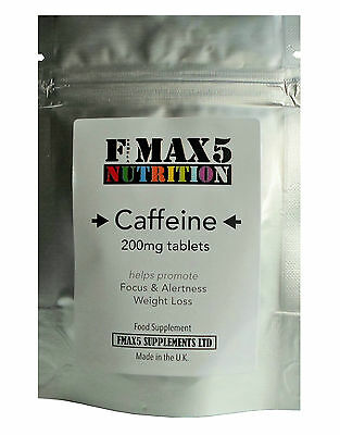 200mg Caffeine Tablets -  Boost Energy + Slimming Weight Loss Diet Pills