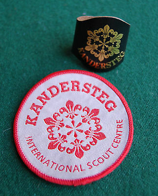 Kanderstag International Scout Camp Woggle & Patch -Boy Scouts Switzerland