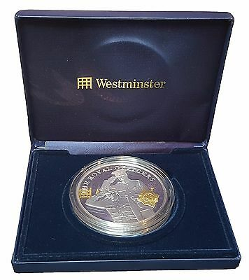 2006 The Royal Officers 5 Ounce Silver Proof & Gold £10 Boxed [7]