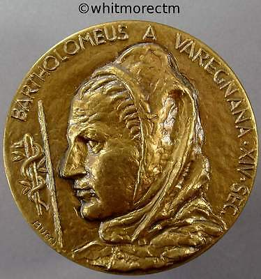 1988 Italy Bologna Medical History Congress Medal Bronze in slip Case By Bucci