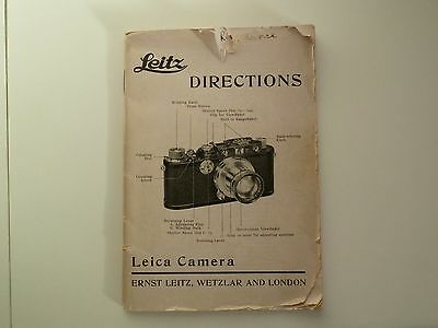 Leica - 1935 Instructions for models, Standard,3a and 250, also accessories by L