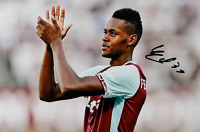 EDIMILSON FERNANDES WEST HAM UNITED HAND SIGNED PHOTO AUTHENTIC GENUINE COA 12x8