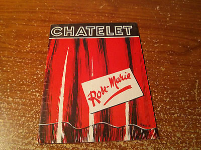 Theatre Du Chatelet Rose-Marie Program July 13,1945