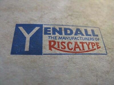 Vintage Typefaces England By Yendall Riscatype.