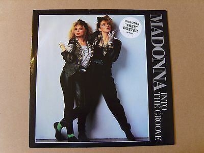 """Madonna - Into The Groove (1985) Vinyl 12"""" Single + Rare Poster - Sire  W8934T"""