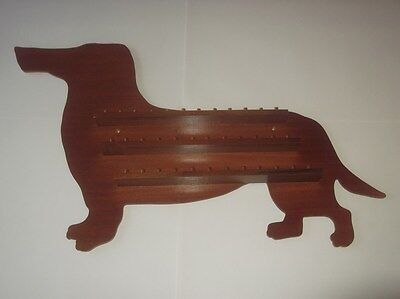 Stock Clearance 36pc Dachshund Wooden Thimble Display Rack ( Mahogany )
