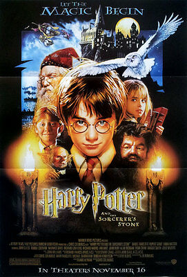 "Harry Potter and the Philosopher's Stone (2001) POSTER 12""x17"" Daniel Radcliffe"