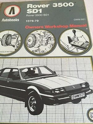 Rover 3500 Sd1 Owners Workshop Manual Auto books 1976-79