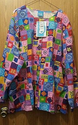 New Colorful Size 3X Scrub Jacket Lab Coat from Life Uniform Snap Front