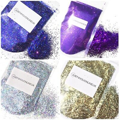 CHUNKY Glitter bags - Nail Art Cosmetic Face Paints Craft Festival 10 50 100g
