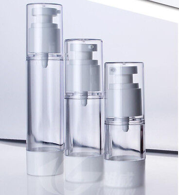 15ml 30ml Empty Airless Pump bottles Vacuum Clear Cosmetic Travel Containers