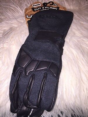 Franklin Uniforce Special Ops Gloves (Black, XL) -Cut/Flash Resistant, Long Cuff