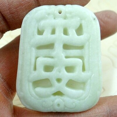 46*36MM Beautiful Chinese jade hand-carved the statue of  PINGAN agate PENDANT