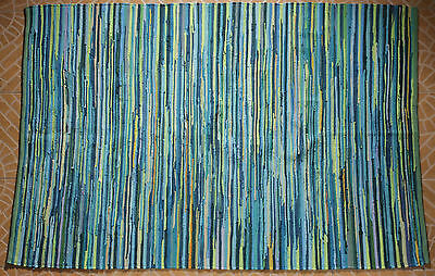 New Chindi Rug Hand Woven Handmade Mat Recycled Cotton Striped Rag Rug 4'x6'