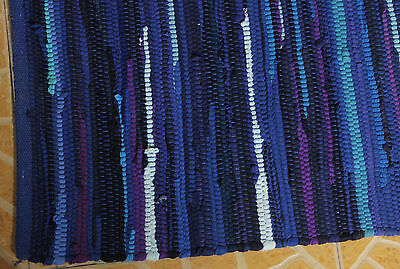 New Chindi Rug Hand Woven HandMade Mat Recycled Cotton Striped Rag Rugs 4'x6'33""