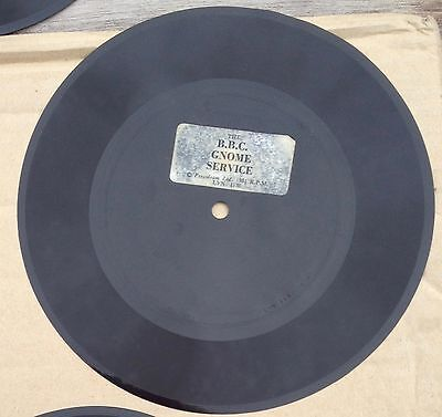 """The BBC Gnome Service 7"""" Flexi Disc from """"Private Eye"""""""