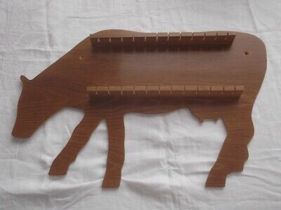 Stock Clearance 24pc Cow Wooden Spoon Display Rack ( Pine )
