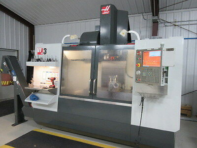 Haas VF-3 CNC Machine w/ Coolant Thru Spindle, Renishaw Probing, 4th Pre-Wire