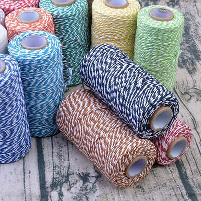 100m Natural Cotton Bakers Twine Cord DIY Crafts Wedding String Card Make Deco