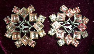 Women's Vintage Pink Rhinestone Shoe Clips Fast Ship Beautiful