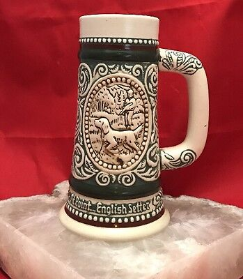 Avon English Setter Rainbow Trout 1983 Mini Stein 5""