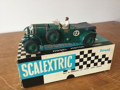 Triang Scalextric C64 Bentley Very Good Condition Boxed Working