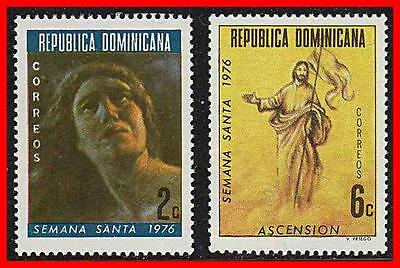 Dominican Rep. 1976 Santa Semana Paintings  Mnh Religion (K-J18)