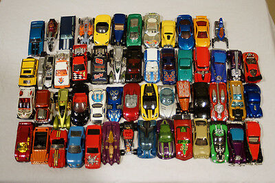 Mixed Lot of 54 Vintage Hot Wheels Cars Trucks and Other Vehicles