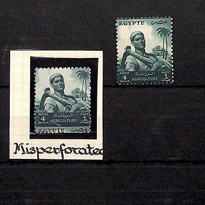 SS4352 EGYPT 4 Mills Misperforated ERROR Unmounted Mint UM MNH