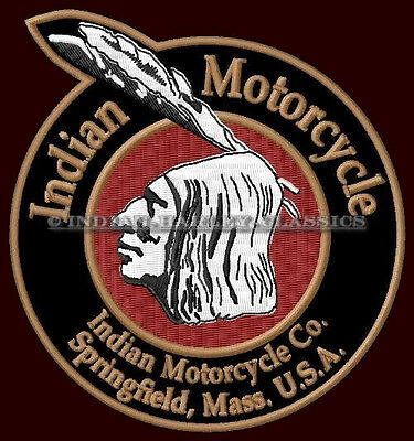 """INDIAN MOTORCYCLE EMBROIDERED PATCH ~4-1/2"""" x 3-7/8""""  CHIEF SCOUT V2 TWIN FOUR"""