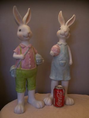 Easter Bunny Resin Figures Decorations 54cm Tall - ex display Gisela Graham
