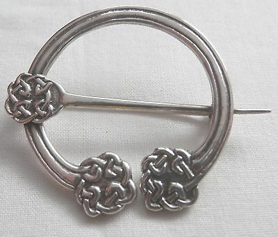 Vintage Huge Iain McCormick Scotland Iona Silver Brooch Ritchie Style 4.8 CM