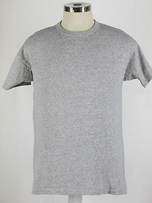 Vintage 80`s CHAMPION BLANK GRAY  T Shirt Authentic White Tag USA Rayon Fits M/L
