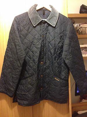 Genuine Navy Barbour Jacket X-Small