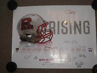 Rutgers Football 2013 Autographed Poster Janarion Grant