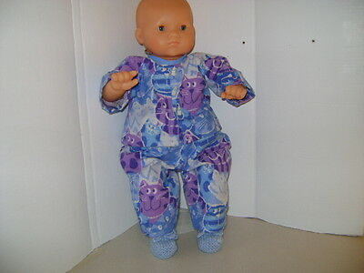 """Handmade Pyjamas with """"Cats"""" fit all 20"""" - 22"""" Baby Dolls and Reborn Dolls"""