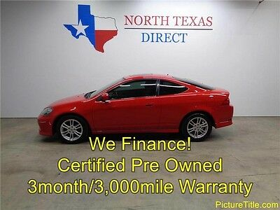 2005 Acura RSX Base Coupe 2-Door 05 RSX Premium Vtec Leather Sunroof Warranty We Finance Texas