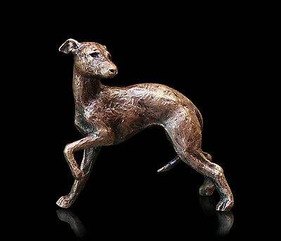 Whippet, Detailed Solid Bronze Miniature By Butler and Peach, Richard Cooper