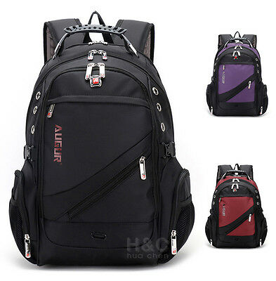 "Men's Travel Rucksack Notebook 17"" Laptop Backpack Hiking School Bag New"