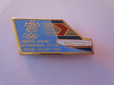 Calgary 1988 Winter Olympic Games Canadian Airlines Official Sponsor Pin Badge