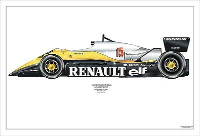F1 Gp Prost 1983 Renault Re40 Airbrush Print